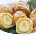Diese leckere gebackene Banane lässt sich ganz einfach im Airfryer backen! Lecker und ganz einfach!